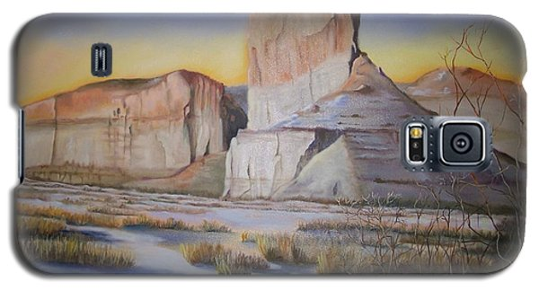 Galaxy S5 Case featuring the painting Green River Wyoming by Marlene Book