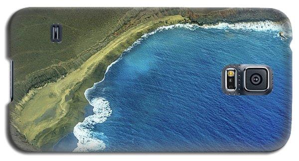 Green Sand Beach Aerial Galaxy S5 Case