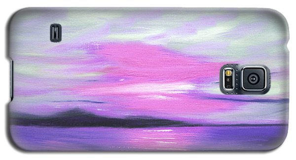 Green Skies And Purple Seas Sunset Galaxy S5 Case