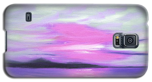 Green Skies And Purple Seas Sunset Galaxy S5 Case