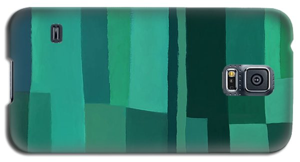 Galaxy S5 Case featuring the digital art Green Stripes 1 by Elena Nosyreva