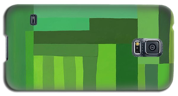 Galaxy S5 Case featuring the digital art Green Stripes 3 by Elena Nosyreva