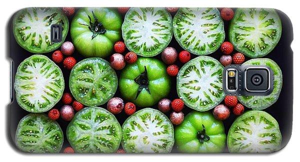 Green Tomato Slice Pattern Galaxy S5 Case
