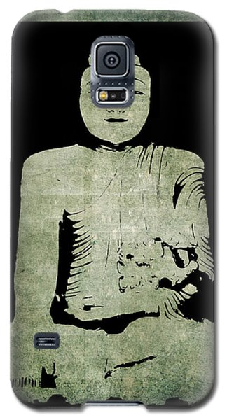 Green Tranquil Buddha Galaxy S5 Case by Kandy Hurley