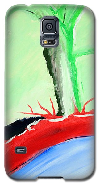 Green Tree Red Ridge Galaxy S5 Case