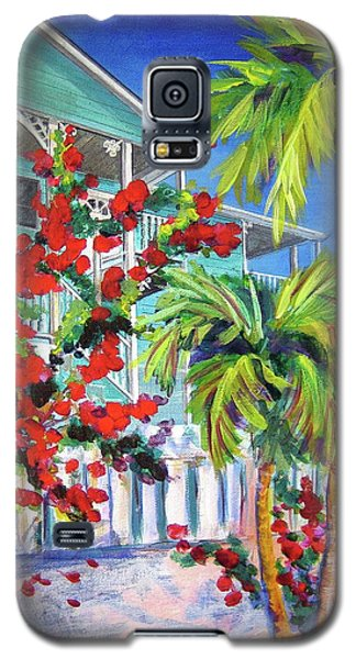 Green Turtle House Galaxy S5 Case by Kristen Abrahamson