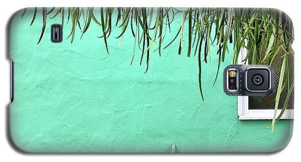 Galaxy S5 Case - Green Wall With Leaves by Julie Gebhardt