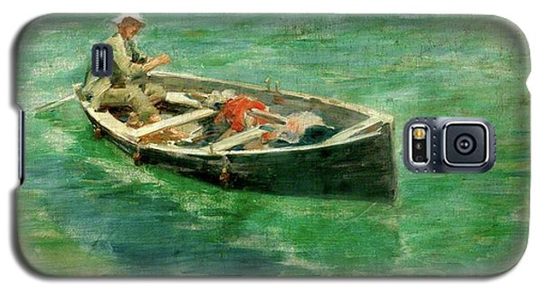 Galaxy S5 Case featuring the painting Green Waters by Henry Scott Tuke