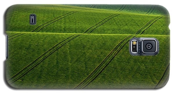 Galaxy S5 Case featuring the photograph Green Waves Of Rolling Hills by Jenny Rainbow