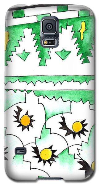 Green Zellij Galaxy S5 Case