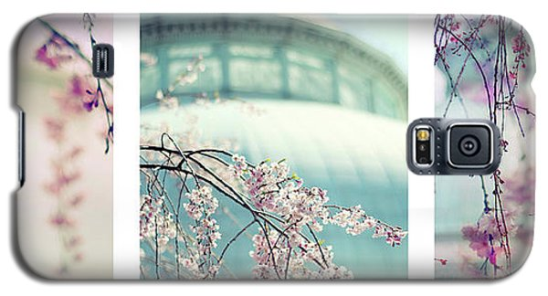 Galaxy S5 Case featuring the photograph Greenhouse Blossoms Triptych by Jessica Jenney