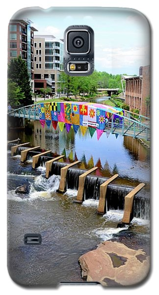 Galaxy S5 Case featuring the photograph Greenville River Walk by Corinne Rhode