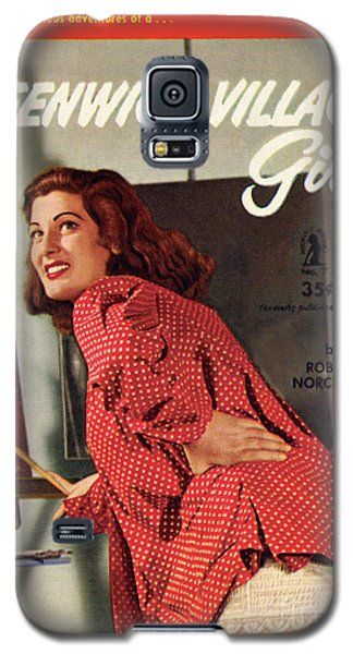 Galaxy S5 Case featuring the painting Greenwich Village Girl by Photo Cover