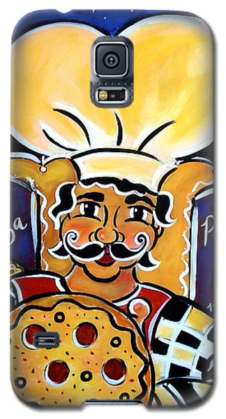 Galaxy S5 Case featuring the painting Gregorios Pizzeria by Jan Oliver-Schultz