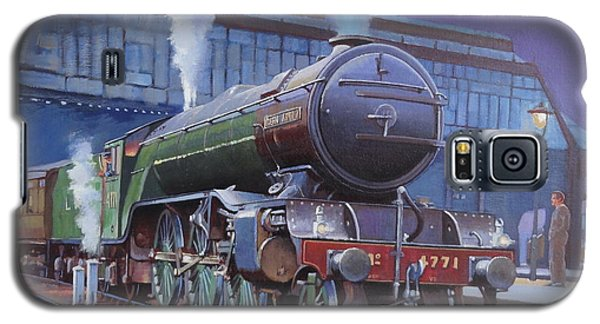 Galaxy S5 Case featuring the painting Gresley Green Arrow Class. by Mike  Jeffries