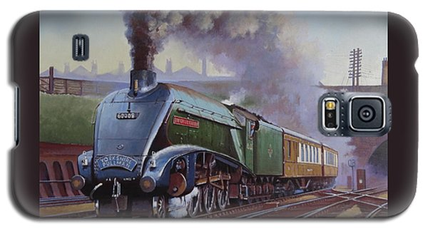 Galaxy S5 Case featuring the painting Gresley Pacific A4 Class. by Mike  Jeffries