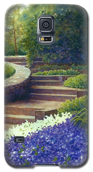 Galaxy S5 Case featuring the painting Gretchen's View At Cheekwood by Janet King