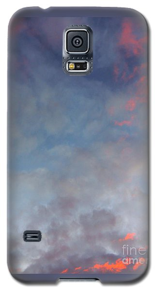 Galaxy S5 Case featuring the photograph Pink Flecked Sky by Linda Hollis