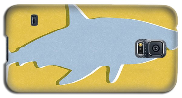 Sharks Galaxy S5 Case - Grey And Yellow Shark by Linda Woods