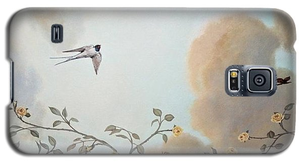 Grey Cloudy Flight By Dove Galaxy S5 Case