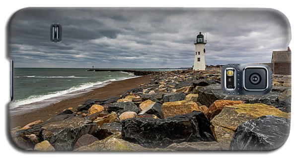 Grey Day At Scituate Lighthouse Galaxy S5 Case