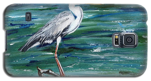 Grey Heron Of Cornwall -painting Galaxy S5 Case