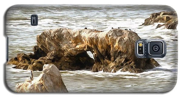 Galaxy S5 Case featuring the photograph Grey Water At Window Rock by Barbara Snyder