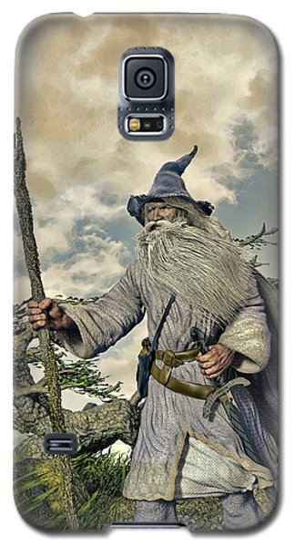 Grey Wizard II Galaxy S5 Case by Dave Luebbert