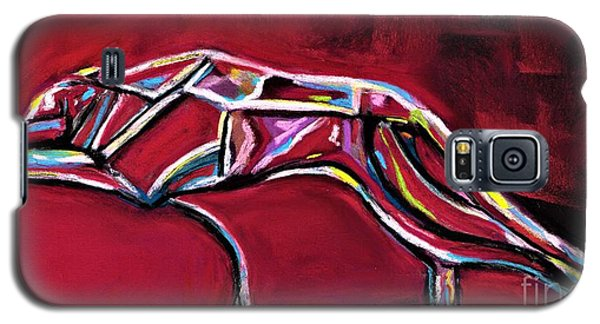 Galaxy S5 Case featuring the painting Greyhound Glass Figurine  by Frances Marino