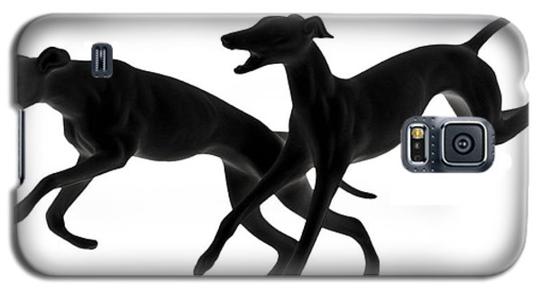 Greyhounds Travelling At 45 Mph Galaxy S5 Case by Christine Till