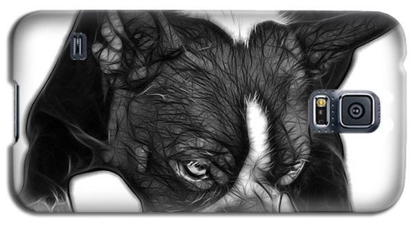 Greyscale Boston Terrier Art - 8384 - Wb Galaxy S5 Case