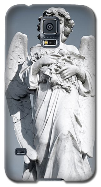 Galaxy S5 Case featuring the sculpture Grieving Angel On The Old Graveyard by Yurix Sardinelly