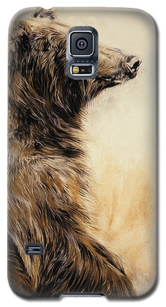 Brown Bear Galaxy S5 Case - Grizzly Bear 2 by Odile Kidd