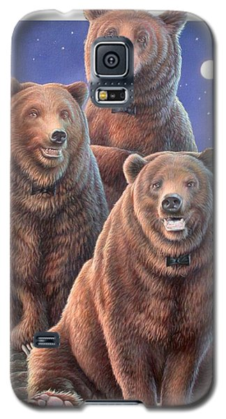 Grizzly Bears In Starry Night Galaxy S5 Case