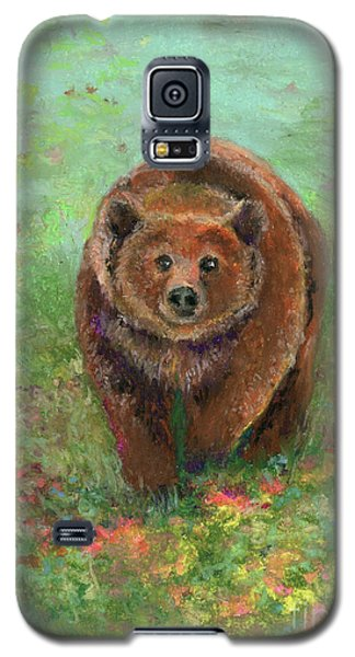Grizzly In The Meadow Galaxy S5 Case