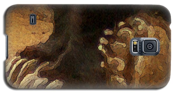 Brown Bear Galaxy S5 Case - Grizzly Paws by Jack Zulli