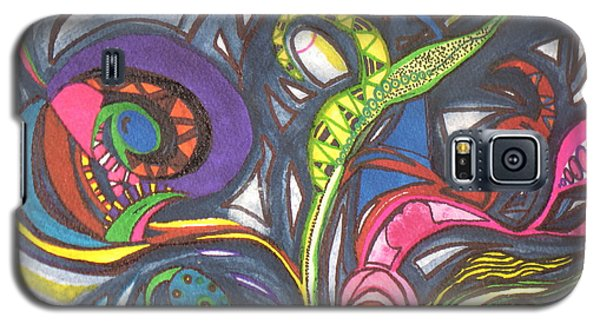 Galaxy S5 Case featuring the painting Groovy Series by Chrisann Ellis