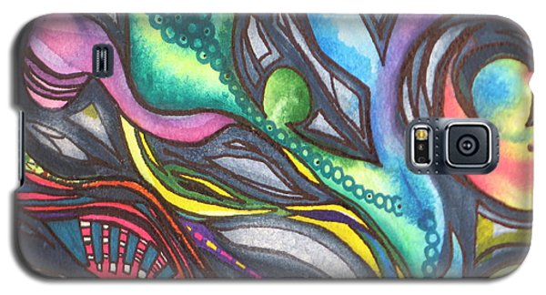 Groovy Series Titled My Hippy Days  Galaxy S5 Case by Chrisann Ellis