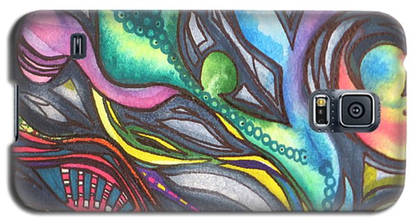 Galaxy S5 Case featuring the painting Groovy Series Titled My Hippy Days  by Chrisann Ellis