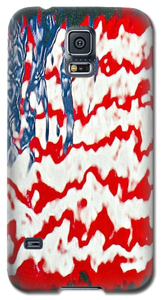 Galaxy S5 Case featuring the photograph Ground Zero Reflection Of The American Flag by Lorella  Schoales
