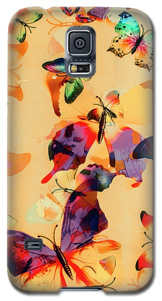 Group Of Butterflies With Colorful Wings Galaxy S5 Case