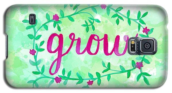 Garden Galaxy S5 Case - Grow Watercolor by Michelle Eshleman