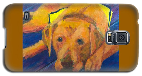Galaxy S5 Case featuring the painting Growing Puppy by Donald J Ryker III