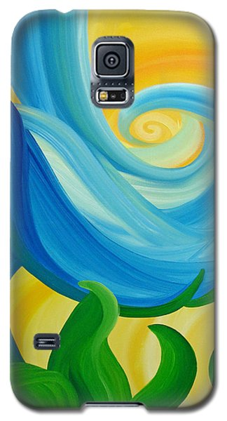 Galaxy S5 Case featuring the painting Growth by Ginny Gaura