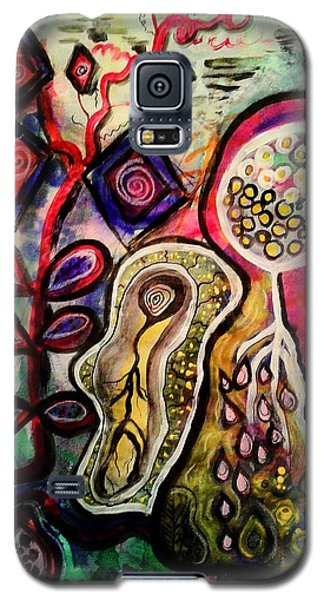 Galaxy S5 Case featuring the mixed media Growth by Mimulux patricia no No