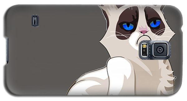 Galaxy S5 Case featuring the digital art Grumpy Cat by Ericamaxine Price