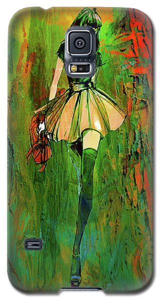 Galaxy S5 Case featuring the digital art Grunge Doll by Greg Sharpe
