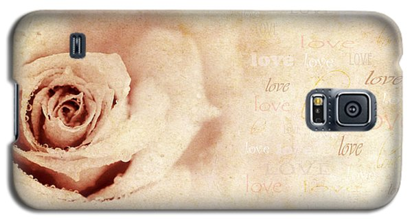 Grungy Rose Background Galaxy S5 Case