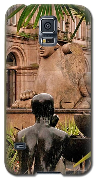 Galaxy S5 Case featuring the photograph Guardian And Youth by Lynn Hughes