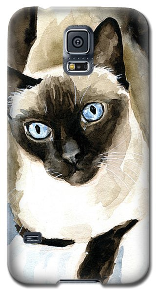 Guardian Angel - Siamese Cat Portrait Galaxy S5 Case